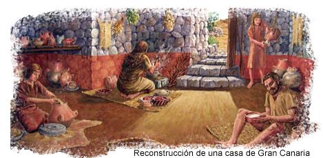 Recreación del confortable interior de una casa canaria
