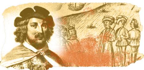 Béthencourt, con grabado de Le Canarien al fondo