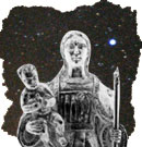 Chaxiraxi, con la estrella Canopo al fondo