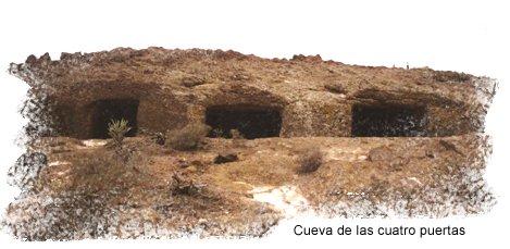 Cueva de las Cuatro Puertas, en Gran Canaria