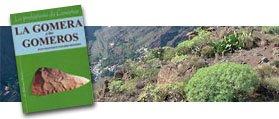 Portada del libro y paisaje de La Gomera